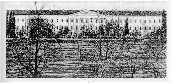 Здание бывшего Михайловского кадетского корпуса. С 1918 по 1938 г. главный корпус ВГУ.
